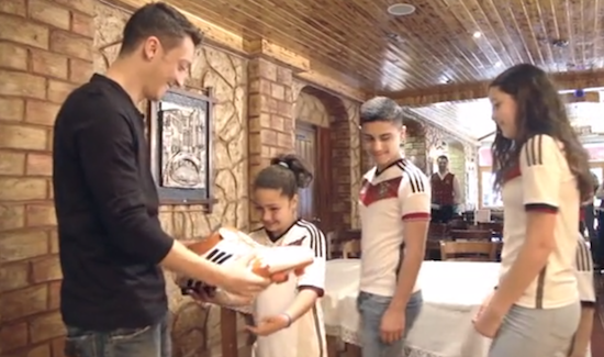 German World Cup player celebrates his win...by using his $400,000 bonus to pay for surgery for 23 Brazilian kids.