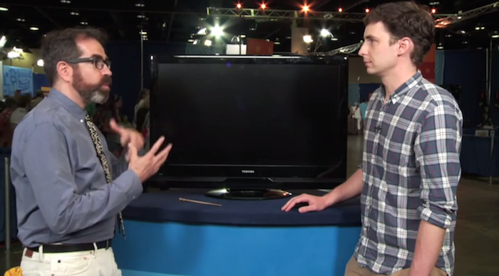 Man gets his old flatscreen TV evaluated by 'Antiques Roadshow.'