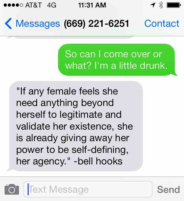 The bell hooks Hotline is the fake phone number you should give to the next creepy guy who wants your digits.