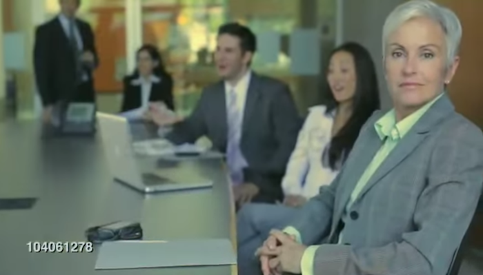 This mind-bendingly insane rap video uses nothing but stock footage of business people doing business stuff.