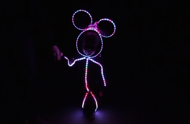 This little girl's glowing Halloween costume is ridiculously cute.