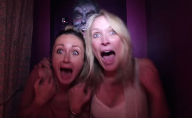 "Everyone who entered this ""haunted"" photo booth received a picture of themselves screaming."