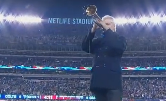 This moving version of the national anthem from Monday Night Football brought an NFL player to tears.