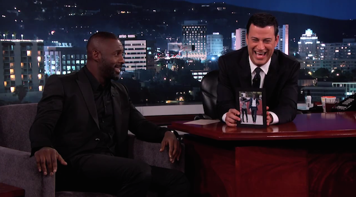 Idris Elba goes on national television to confirm our suspicions about his penis being fake.