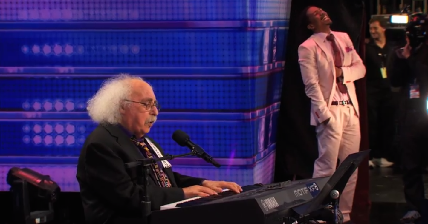 """Adorable 84-year-old """"America's Got Talent"""" contestant shocks judges and audience with his NSFW original song."""