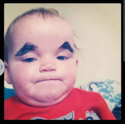 If drawing eyebrows on babies and posting the pictures is wrong, then the Internet isn't right.