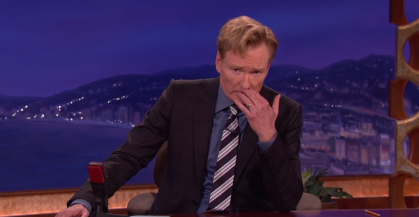 Conan O'Brien found out about Robin Williams at the end of taping his show, and handled it perfectly.