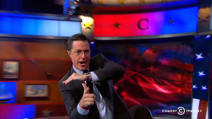 Colbert takes on trolls of Gamergate, gets high score.