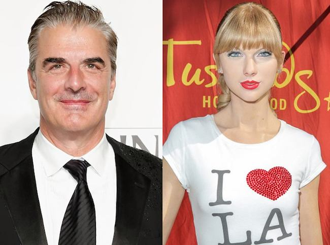 Chris Noth says Taylor Swift is a perfect match for the vapid, wealthy New York that he helped create.