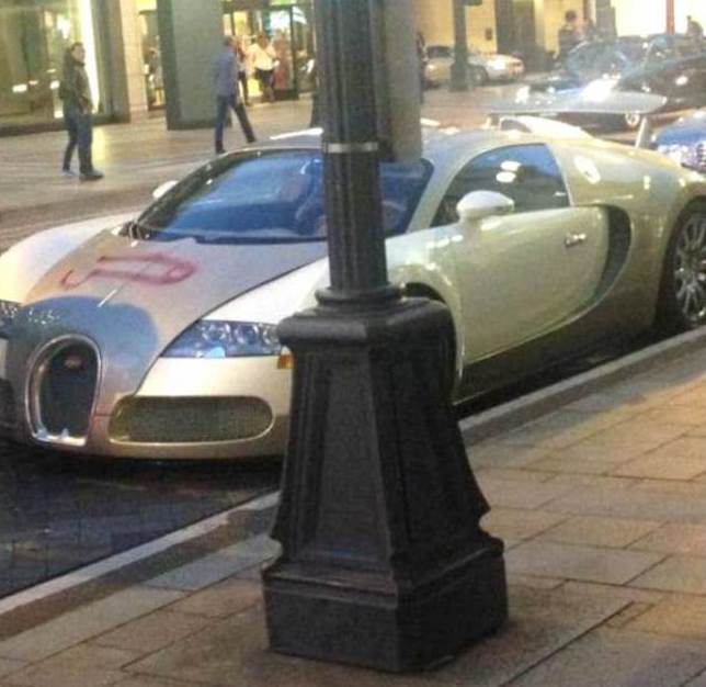 Someone spray painted a penis on $1.5 million Bugatti Veyron.