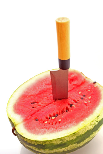 "Watermelon becomes victim in ""passive-aggressive"" stabbing."
