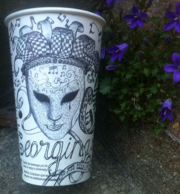 Starbucks barista takes writing people's names on cups to an artistic new level.