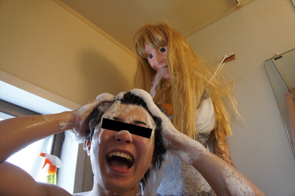 The Internet can't stop staring at the fake girlfriend this man built out of his shower head.