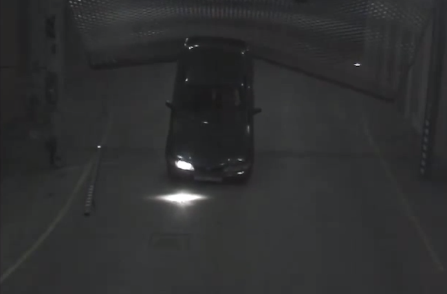 Watch this shirtless idiot and his car lose a bizarre battle with a stubborn metal gate.
