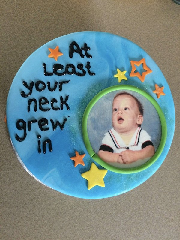 A guy failed the bar exam, so his brother got him this cake.