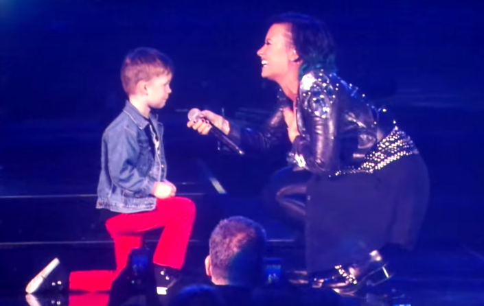 A 5-year-old boy proposed marriage to Demi Lovato onstage before thousands of screaming fans.
