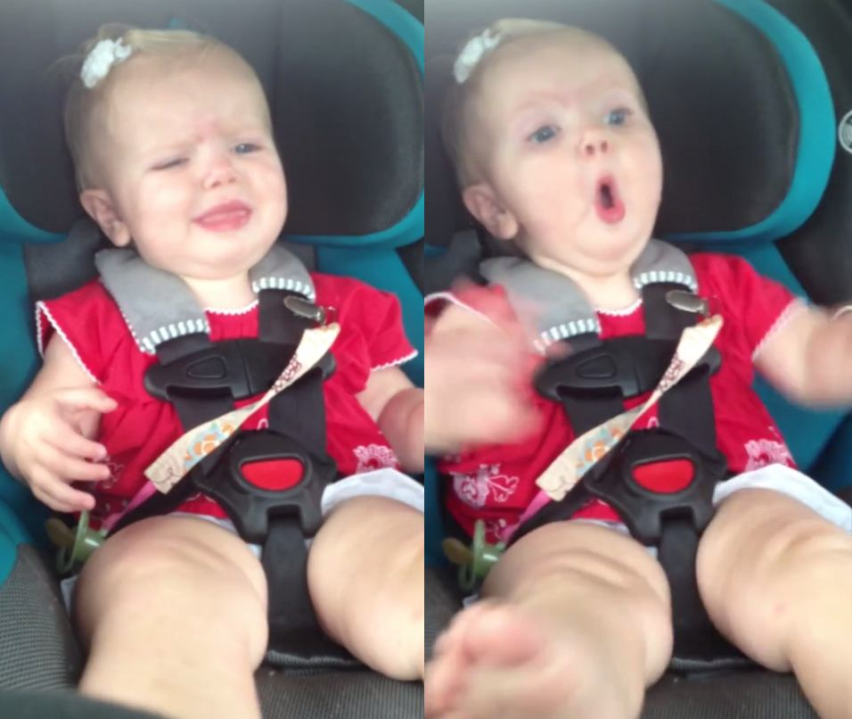 This baby stops crying the moment she hears Katy Perry music. Naturally.