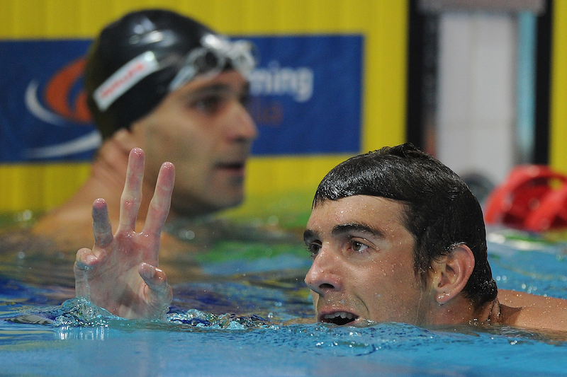 Michael Phelps got behind the wheel of a car while swimming in alcohol.