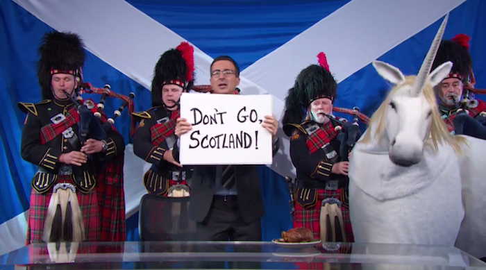 Have no clue what the Scottish independence vote is all about? Let English explainer-person John Oliver explain.