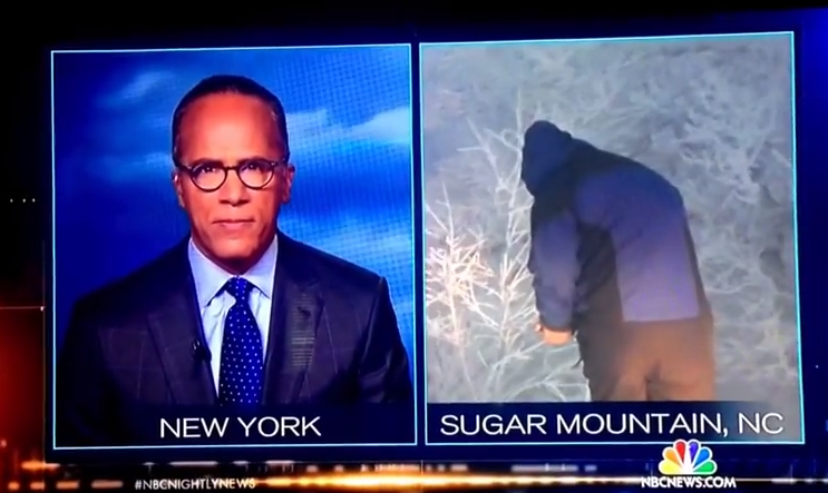 NBC's weatherman got caught peeing in the woods on live television.