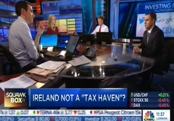 American CNBC host interviewing Irish guy clearly knows nothing about Ireland.