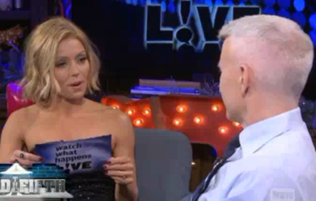Kelly Ripa asked Anderson Cooper whether he'd rather have sex with her or her husband.