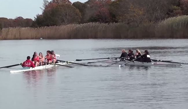 Please watch what has to be the most catastrophic women's rowing race in history.