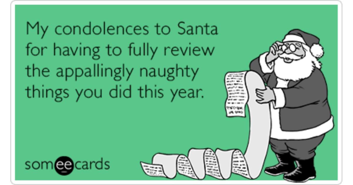 naughty christmas girl ecard