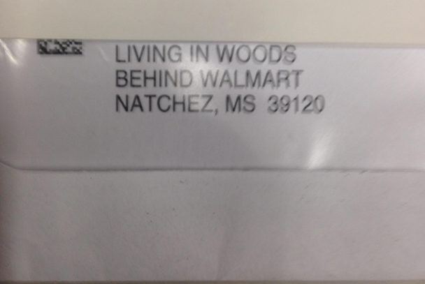 A postman discovered what may be the sketchiest address ever written on a piece of mail.