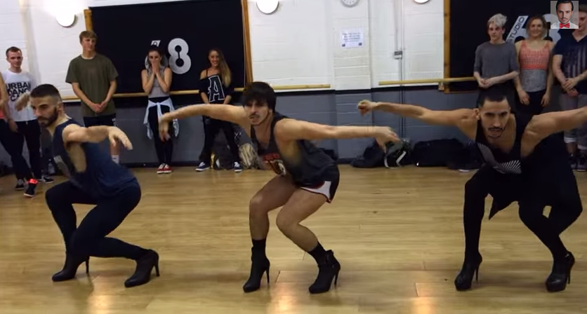 BEST OF 2014: Watch these three dudes in stiletto-heeled shoes dance to Beyoncé.
