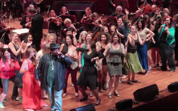 Sir Mix-A-Lot performed 'Baby Got Back' with the Seattle Symphony, along with some wildly enthusiastic ladies.