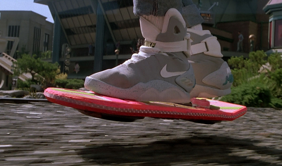 Somebody actually invented a 'Back to the Future'-style hoverboard for real this time.