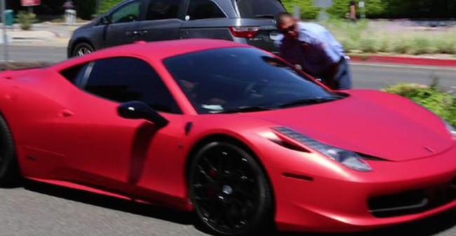 Justin Bieber invoked Princess Di in a Tweet after his Ferrari was rear-ended. Freakout ensues.