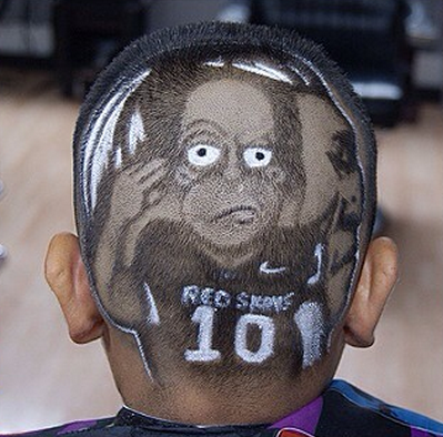 This Homer Simpson-Washington haircut is as impressive as it is hideous.