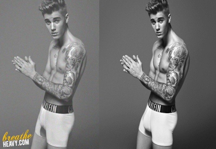 Unretouched photos from Justin Bieber's Calvin Klein shoot reveal a much smaller penis.