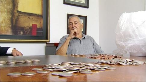 A 73-year-old man was assaulted by an insurance company employee. A-hole company paid his $21K settlement in coins.