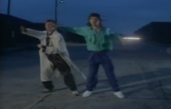 "Mick Jagger and David Bowie's ""Dancing in the Street"" video is so much better without music."