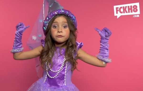 "A bunch of adorable little girls in princess costumes aren't afraid to say ""f*ck inequality."""