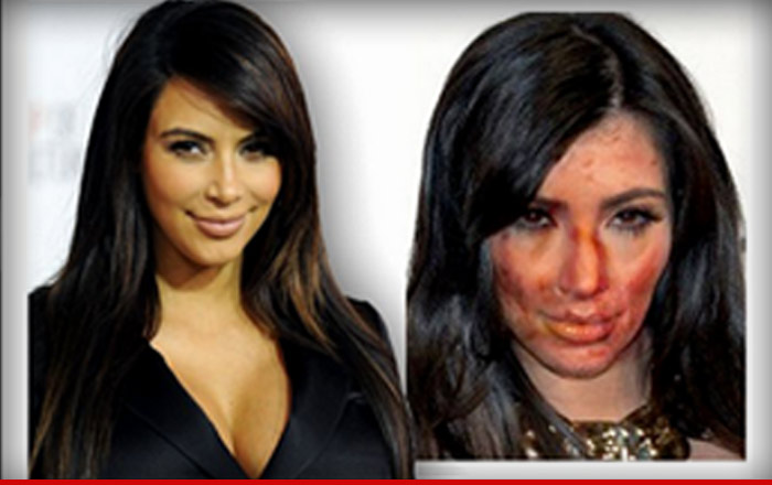A sheriff's department posted this image of Kim Kardashian's face on meth.