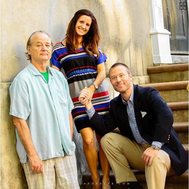 Bill Murray takes engagement photos with strangers