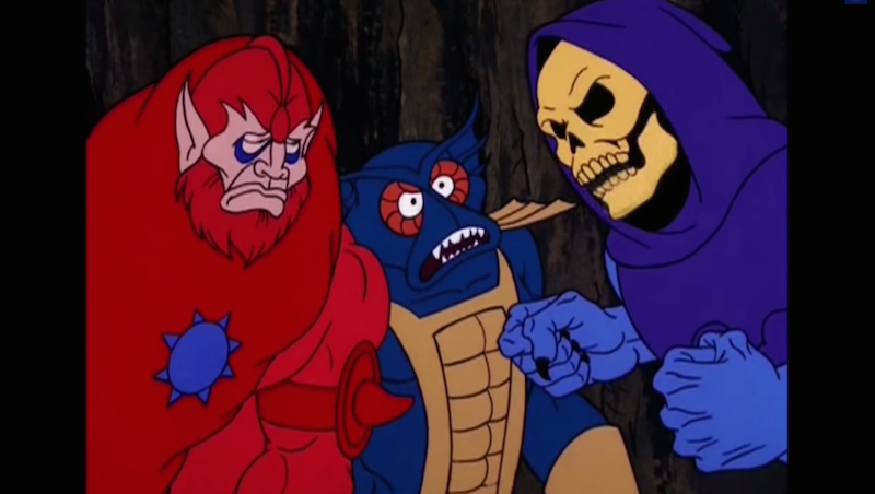 Looking back, He-Man's enemy Skeletor was a real dick.