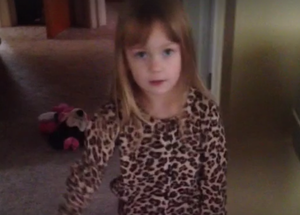 Little girl doesn't care what people think but would still like to apologize for farting.