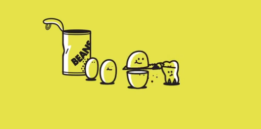 This short animated video answers the age old question of how a bean becomes a fart.