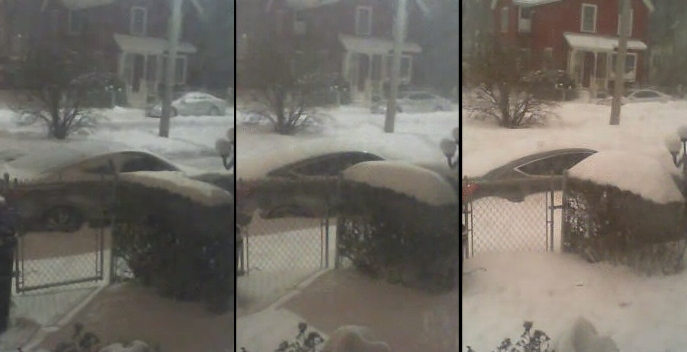 Watch this awesome timelapse of a street in Boston being buried by last night's blizzard.
