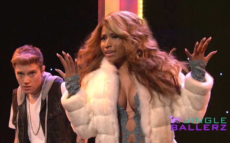 Nicki Minaj impersonated Kim Kardashian and Beyoncé on 'SNL' this weekend.