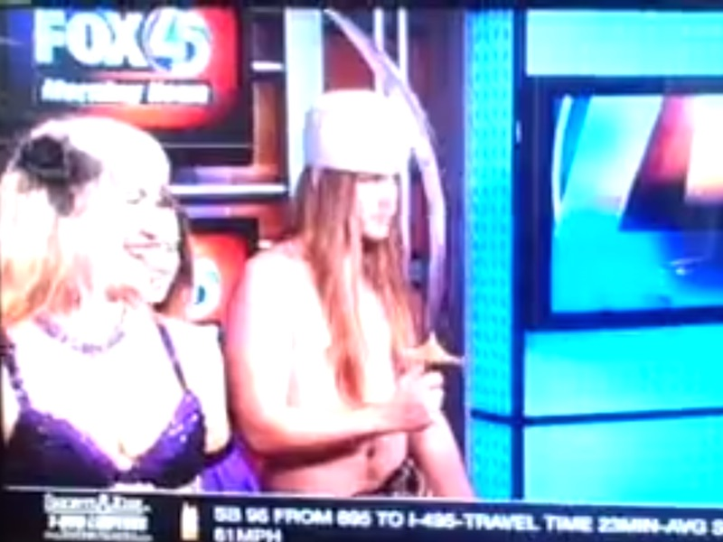 """This dude's mom did a """"beginner's lesson"""" for belly dancing on local news and made him join."""