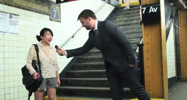 Brave interviewer captures commuters at their lowest moment: right after missing the train.