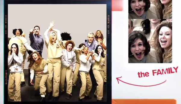 """Now the story of """"Orange Is The New Black"""" with """"Arrested Development"""" credits."""