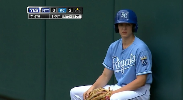 A ball boy accidentally fielded a fair ball. He made up for it in the next inning.