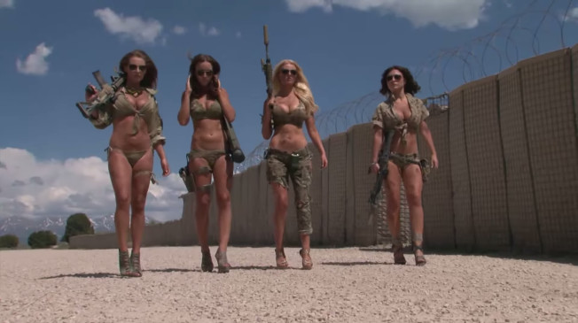 The Utah National Guard lent their base, guns and soldiers to a bunch of hot girls without authorization.